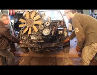 m104-engine-removal-from-donor-car