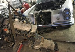 mercedes-w108-m130-engine-removal